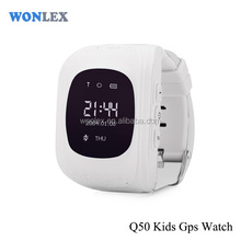 Wonlex gps watch Q50 /free online software gps sim card tracker for kids
