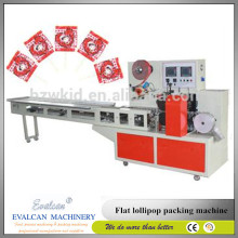 Good flat lollipop wrapping packing machine