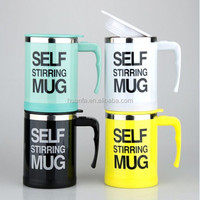 Popular and New Color Stainless Steel Self stirring mug and Automatic mixing cup