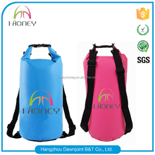 pvc waterproof beach dry bag with strap for swimming boating fishing