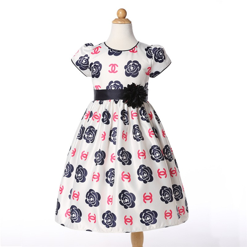 Wholesale kids clothing Rose flower dress baby girl princess party dress patterns <strong>L</strong>-95