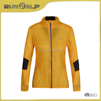 light fabric outdoor golden yellow jacket