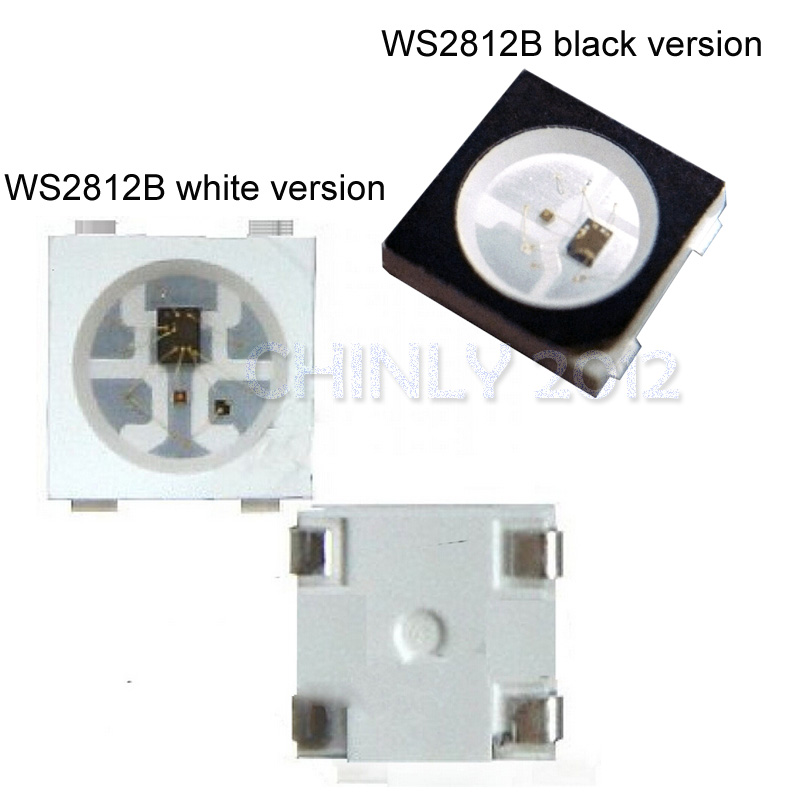 High Bright 1000pcs/Roll 5V WS2812B SMD 5050 White Individually Digital Addressable RGB LED Chip for LED DIY Decoration