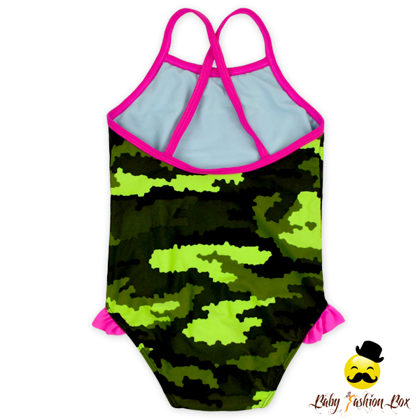 Printed Baby Colors Summer Toddlers Girls Ruffle Swim Wear Suit For 0-6Years