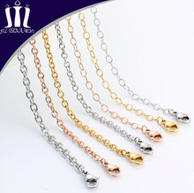 Unisex Simple Design Stainless Steel Jewelry Chain Necklace