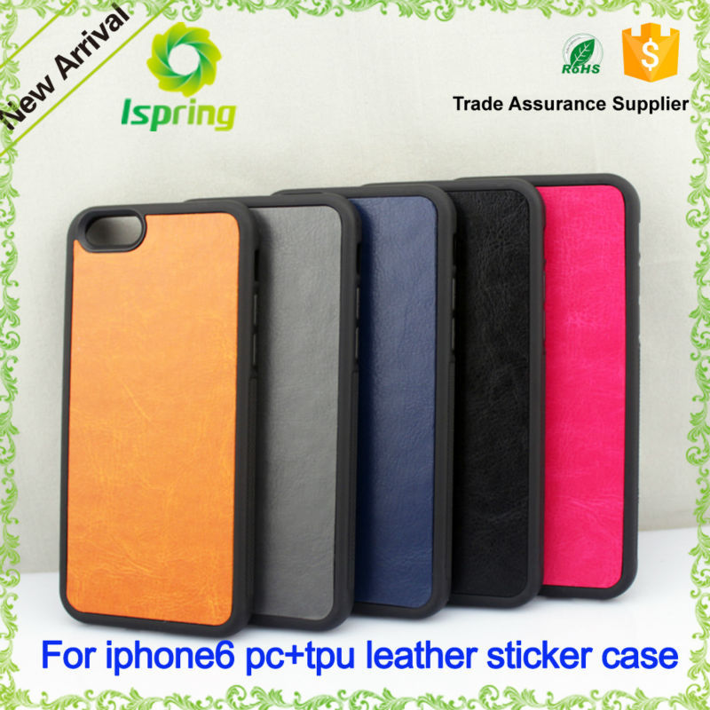 Cellphone Case for iPhone 6,Hot Selling Cross Pattern Leather Sticker Case for Apple