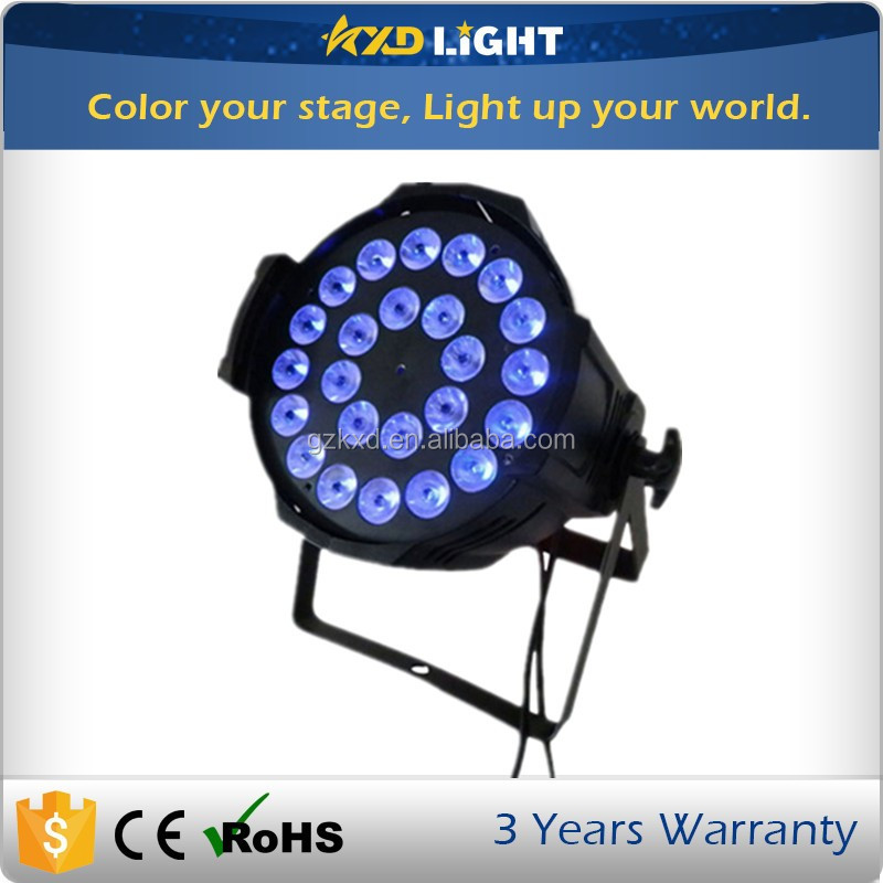 Guangzhou factory 24pcs 10w 4-IN-1 quad waterproof indoor led par can light