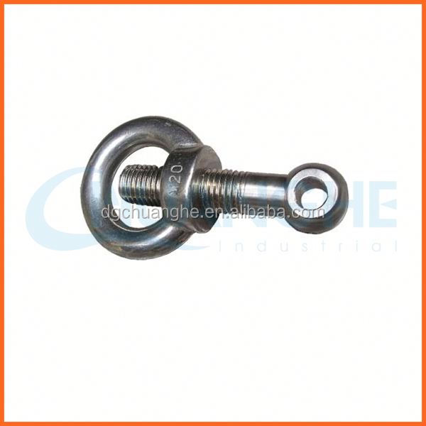 "Factory price eye bolts with 3/4"" thread diameter"