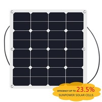 solar cell roll 50w 12v semi flexible solar panel