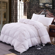 High quality 100% Cotton 300TC white goose down quilt