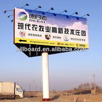 three-side outdoor steel led advertising hoarding