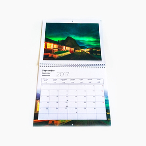 Printing 2017 full color new year custom wall souvenir calendar planner printed advent calendar