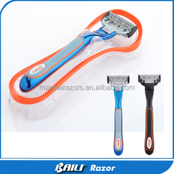 New 2016 Shaving Razor Set OEM 5 Blade Metal Handle System Razors
