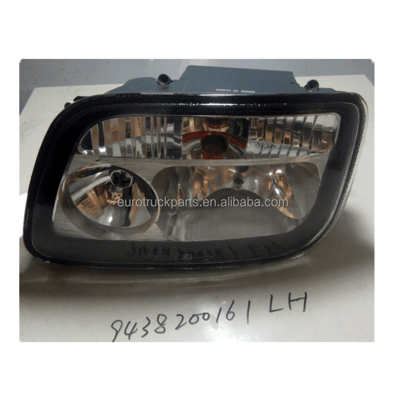 MB actros mp2 heavy duty truck body parts oem 9438200161 headlamp headlight