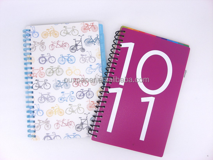 promotion spiral notebook with color pages with paper cover