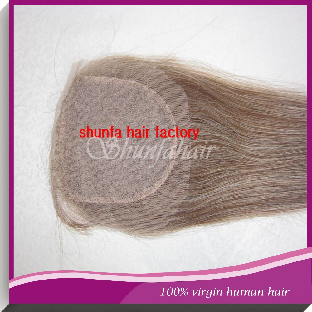 High quality remy human hair clsoure , straight blond hair closures , silk base top closures