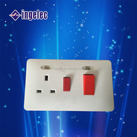 Yiwu No1 China supplier electrical switches with red light home fittings Electric modular switch