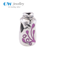 Chinese Traditional Cheongsam Charm in 925 Sterling Silver Wedding Dress Charm