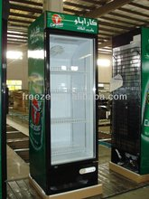 commercial display beverage upright water cooler refrigerator