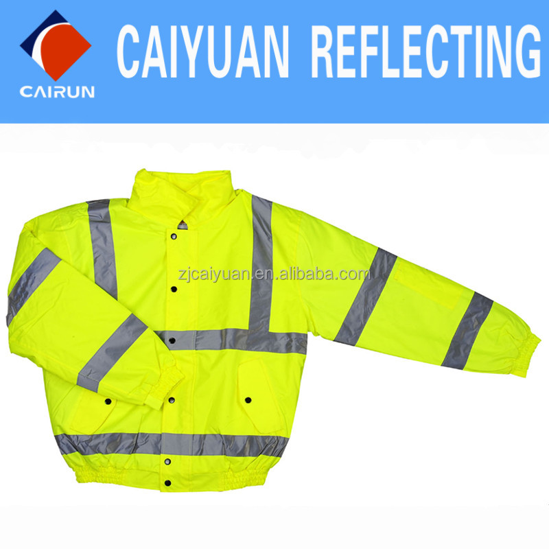 CY Reflective Safety Cloth Winter Jacket
