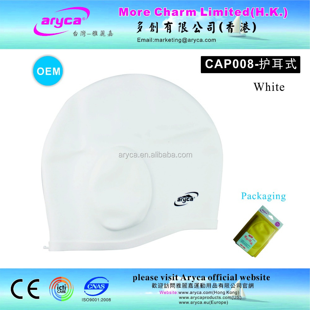 cover ears Silicone Children white adult Water Sports Swimming Caps