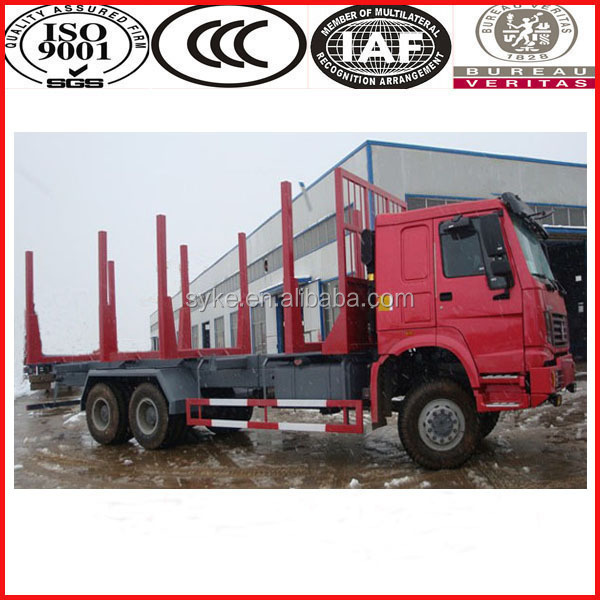 China supply Sinotruk howo 6x4 logging truck for sale