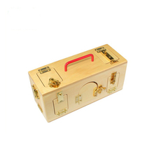 Best selling intelligent toys for adult montessori toy wooden little lock boxes with handle