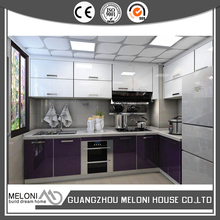 Fashion purple color uv painting china kitchen cabinet design