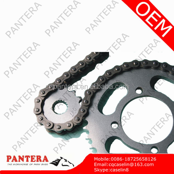 Front 12T Rear 36T Cheap Motorcycle CG125 Sprocket and Chain