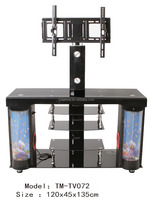 glass tv stand ,tv table built with speaker and fish tank TV072