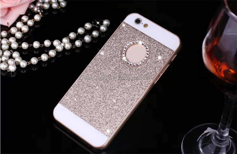 Hot selling glitter pc material 5.5 inch mobile phone case cover for iphone 6s for iphone 7 7plus for mobile phone