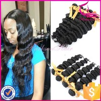 Wholesale human hair extensions hair weave 14inch 100% unprocessed peruvian hair loose deep wave