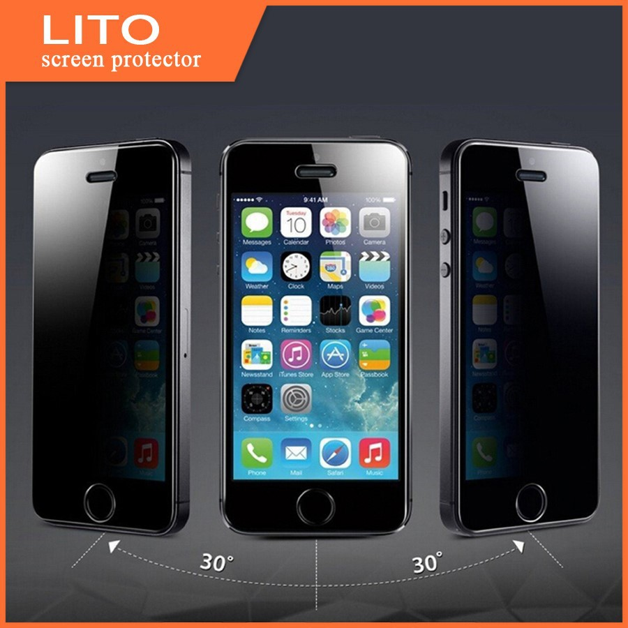 Anti-spy tempered glass for iphone 6 privacy screen protector