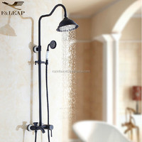 "Luxury Rainfall Bathroom Shower Mixer Set Faucet with Handshower + 8"" Brass Shower Head Oil Rubbed Bronze Finished"