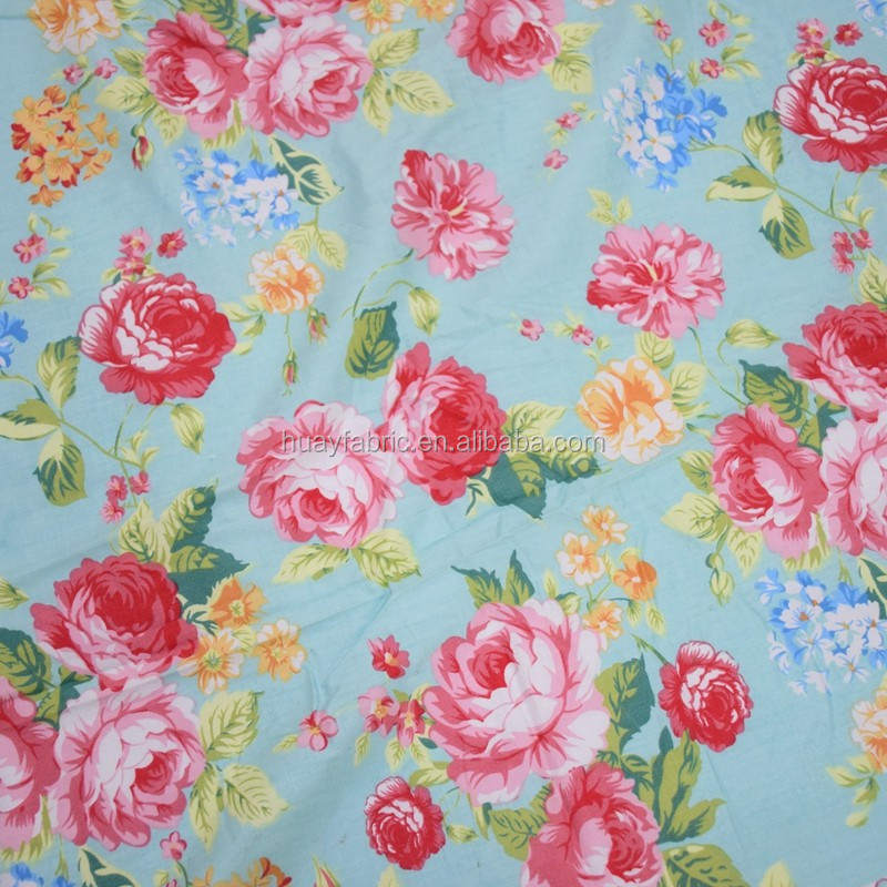 Flower design bed sheet fabric cotton textile fabric for children girl dress HYC0059
