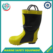 Yellow Rubber Fire Fighting Boots For Firemen