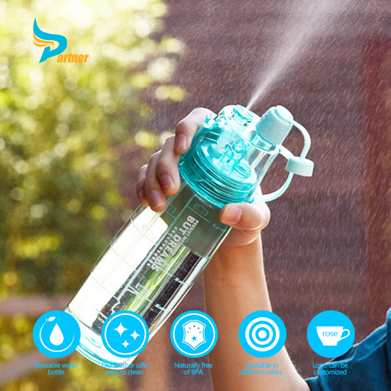 bpa free water mist spray drinking water bottle