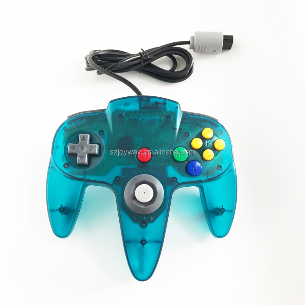 Wired Controller for N64 Gamepad controller for n64 gamepad joystick joypad game handle for n64 transparent blue