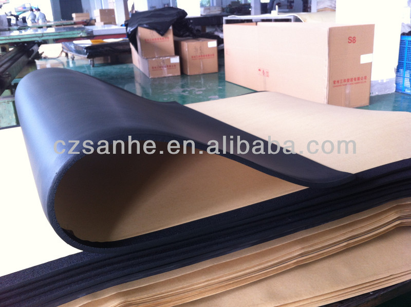 Sound absorption insulation NBR/PVC self adhesive rubber foam sheet