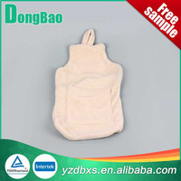 nude natural rubber hot water bottle with nice fleece soft cover