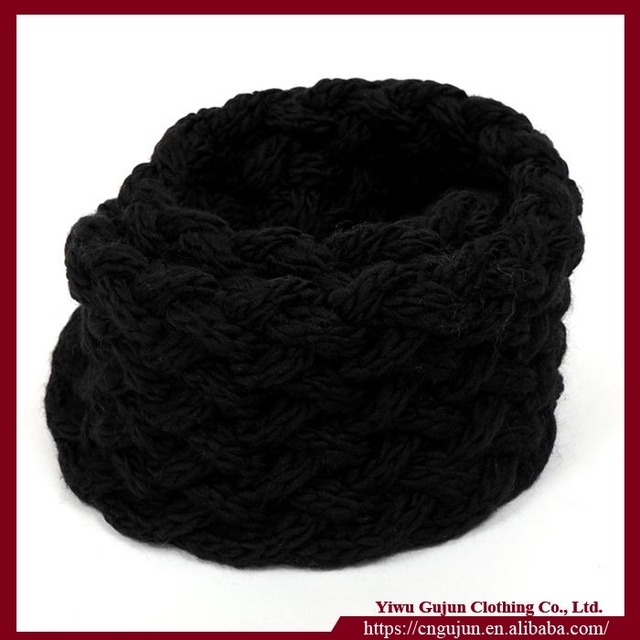 Unique popular korean style autumn winter cheap infinity scarf women warm knit neck circle wool scarf