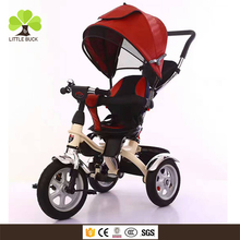 Alibaba wholesale tricycle baby , three wheels kids tricycle bike online shopping , children metal frame tricycle with 360 seat