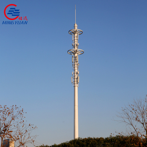 cell phone mobile GSM steel monopole telecommunication tower