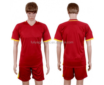 Hot sale training uniforms wholesale blank soccer jersey