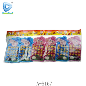 New packing fruit soft candy with chocolate candy