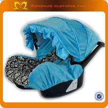 2014 Turquoise damask Girl infant car seat covers cotton baby seat cover