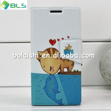 Stand cute case pattern waterproof mobile case for huawei p6