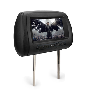 Hot selling 7'' HD portable car TV car headrest monitor with hdmi input DVD car pliiow TFT LCD color monitor