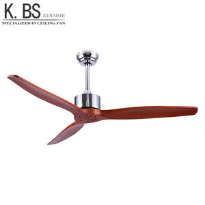 Unique 60inch 3 Wooden Blade AC Ceiling Fan Without Light DC Motor Remote