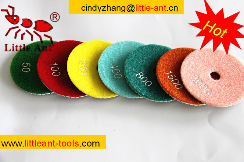 hot sale velcro diamond polishing pad , diamond polishing pad marble types, diamond power tool